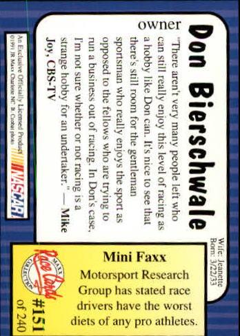 1991-Maxx-Auto-Racing-Cards-1-240-Rookies-A2705-You-Pick-10-FREE-SHIP thumbnail 302
