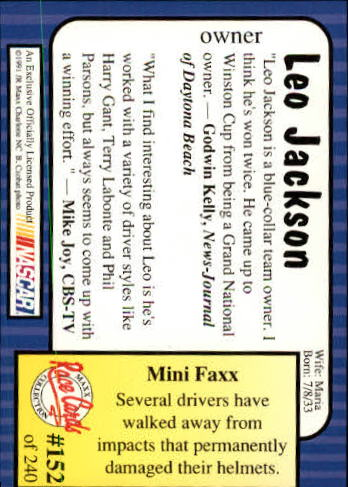 1991-Maxx-Auto-Racing-Cards-1-240-Rookies-A2705-You-Pick-10-FREE-SHIP thumbnail 304