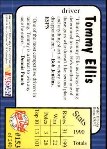1991-Maxx-Auto-Racing-Cards-1-240-Rookies-A2705-You-Pick-10-FREE-SHIP thumbnail 306