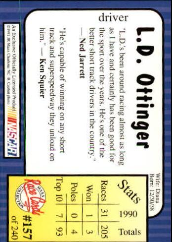 1991-Maxx-Auto-Racing-Cards-1-240-Rookies-A2705-You-Pick-10-FREE-SHIP thumbnail 314