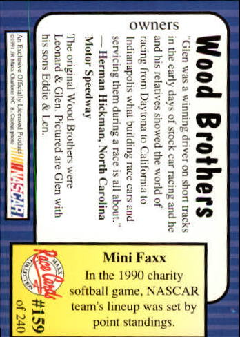 1991-Maxx-Auto-Racing-Cards-1-240-Rookies-A2705-You-Pick-10-FREE-SHIP thumbnail 318