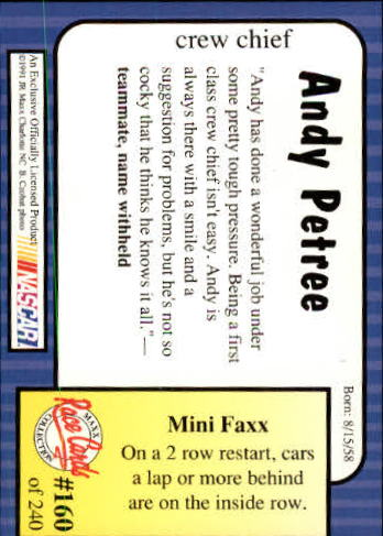 1991-Maxx-Auto-Racing-Cards-1-240-Rookies-A2705-You-Pick-10-FREE-SHIP thumbnail 320
