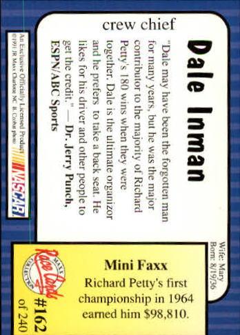 1991-Maxx-Auto-Racing-Cards-1-240-Rookies-A2705-You-Pick-10-FREE-SHIP thumbnail 324