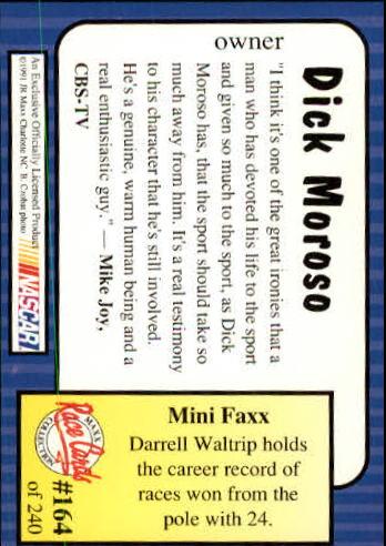 1991-Maxx-Auto-Racing-Cards-1-240-Rookies-A2705-You-Pick-10-FREE-SHIP thumbnail 328