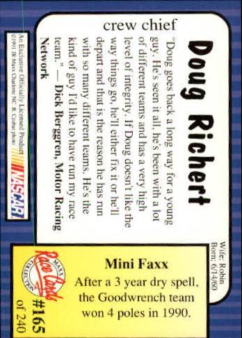 1991-Maxx-Auto-Racing-Cards-1-240-Rookies-A2705-You-Pick-10-FREE-SHIP thumbnail 330