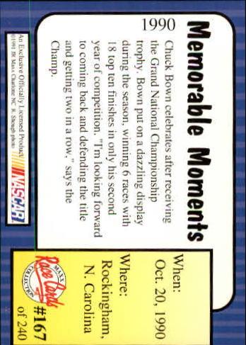 1991-Maxx-Auto-Racing-Cards-1-240-Rookies-A2705-You-Pick-10-FREE-SHIP thumbnail 334