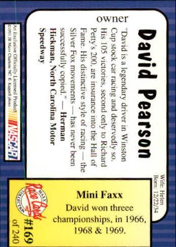 1991-Maxx-Auto-Racing-Cards-1-240-Rookies-A2705-You-Pick-10-FREE-SHIP thumbnail 338