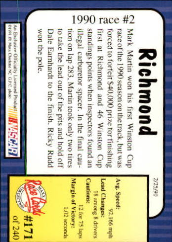 1991-Maxx-Auto-Racing-Cards-1-240-Rookies-A2705-You-Pick-10-FREE-SHIP thumbnail 342