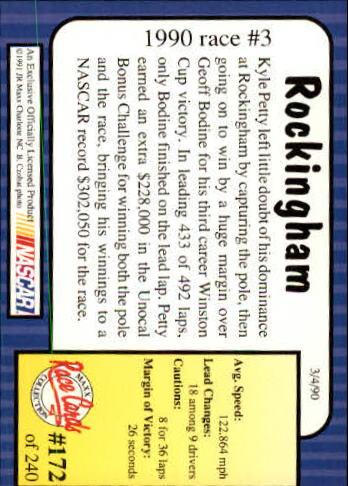 1991-Maxx-Auto-Racing-Cards-1-240-Rookies-A2705-You-Pick-10-FREE-SHIP thumbnail 344