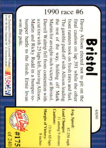 1991-Maxx-Auto-Racing-Cards-1-240-Rookies-A2705-You-Pick-10-FREE-SHIP thumbnail 350