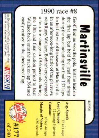1991-Maxx-Auto-Racing-Cards-1-240-Rookies-A2705-You-Pick-10-FREE-SHIP thumbnail 354