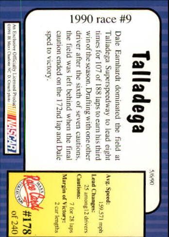 1991-Maxx-Auto-Racing-Cards-1-240-Rookies-A2705-You-Pick-10-FREE-SHIP thumbnail 356