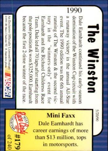 1991-Maxx-Auto-Racing-Cards-1-240-Rookies-A2705-You-Pick-10-FREE-SHIP thumbnail 358