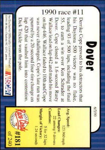 1991-Maxx-Auto-Racing-Cards-1-240-Rookies-A2705-You-Pick-10-FREE-SHIP thumbnail 362