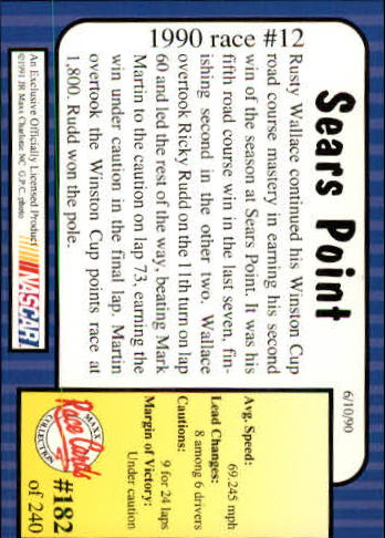 1991-Maxx-Auto-Racing-Cards-1-240-Rookies-A2705-You-Pick-10-FREE-SHIP thumbnail 364