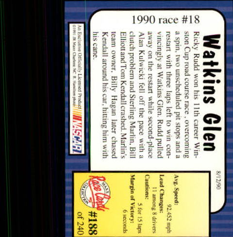 1991-Maxx-Auto-Racing-Cards-1-240-Rookies-A2705-You-Pick-10-FREE-SHIP thumbnail 376