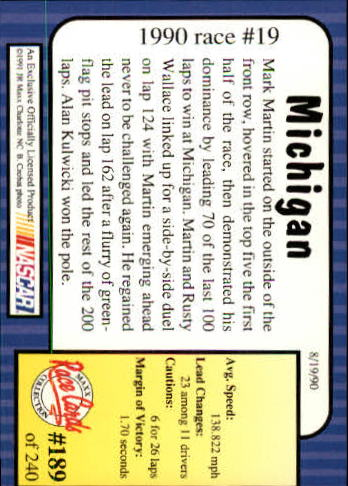 1991-Maxx-Auto-Racing-Cards-1-240-Rookies-A2705-You-Pick-10-FREE-SHIP thumbnail 378
