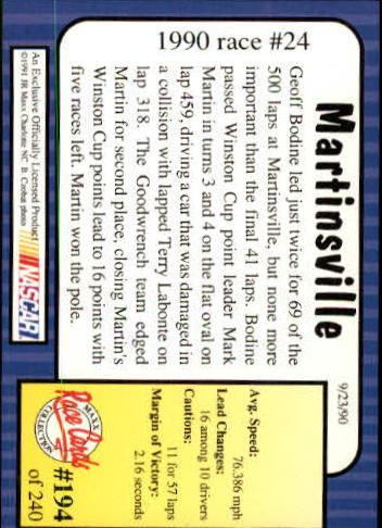 1991-Maxx-Auto-Racing-Cards-1-240-Rookies-A2705-You-Pick-10-FREE-SHIP thumbnail 388