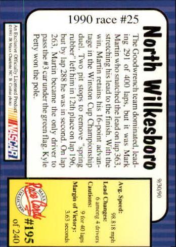 1991-Maxx-Auto-Racing-Cards-1-240-Rookies-A2705-You-Pick-10-FREE-SHIP thumbnail 390