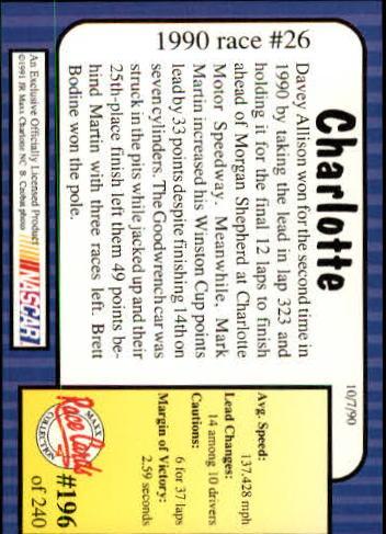 1991-Maxx-Auto-Racing-Cards-1-240-Rookies-A2705-You-Pick-10-FREE-SHIP thumbnail 392