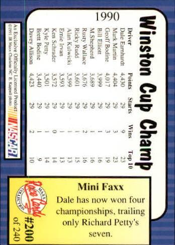 1991-Maxx-Auto-Racing-Cards-1-240-Rookies-A2705-You-Pick-10-FREE-SHIP thumbnail 400
