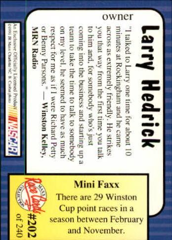 1991-Maxx-Auto-Racing-Cards-1-240-Rookies-A2705-You-Pick-10-FREE-SHIP thumbnail 404