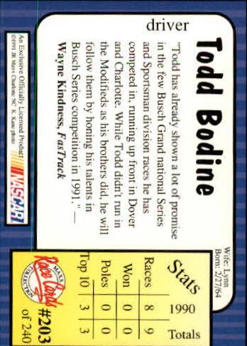 1991-Maxx-Auto-Racing-Cards-1-240-Rookies-A2705-You-Pick-10-FREE-SHIP thumbnail 406