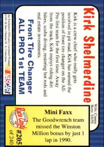1991-Maxx-Auto-Racing-Cards-1-240-Rookies-A2705-You-Pick-10-FREE-SHIP thumbnail 410