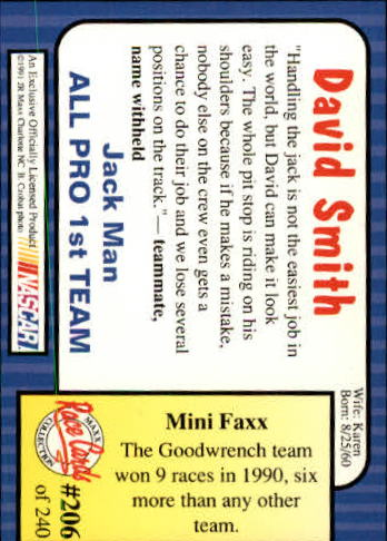 1991-Maxx-Auto-Racing-Cards-1-240-Rookies-A2705-You-Pick-10-FREE-SHIP thumbnail 412