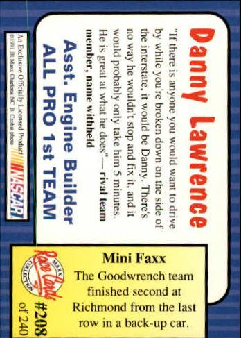 1991-Maxx-Auto-Racing-Cards-1-240-Rookies-A2705-You-Pick-10-FREE-SHIP thumbnail 416