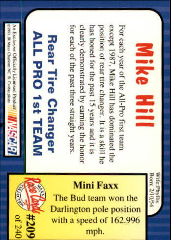 1991-Maxx-Auto-Racing-Cards-1-240-Rookies-A2705-You-Pick-10-FREE-SHIP thumbnail 418