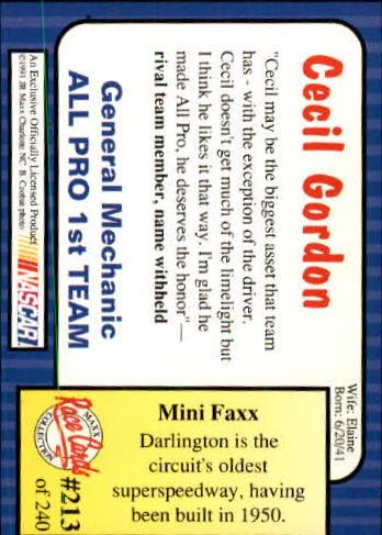 1991-Maxx-Auto-Racing-Cards-1-240-Rookies-A2705-You-Pick-10-FREE-SHIP thumbnail 426