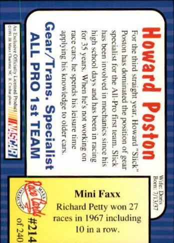 1991-Maxx-Auto-Racing-Cards-1-240-Rookies-A2705-You-Pick-10-FREE-SHIP thumbnail 428