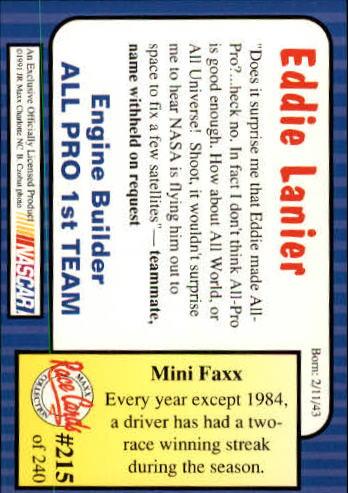 1991-Maxx-Auto-Racing-Cards-1-240-Rookies-A2705-You-Pick-10-FREE-SHIP thumbnail 430