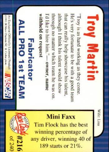 1991-Maxx-Auto-Racing-Cards-1-240-Rookies-A2705-You-Pick-10-FREE-SHIP thumbnail 432