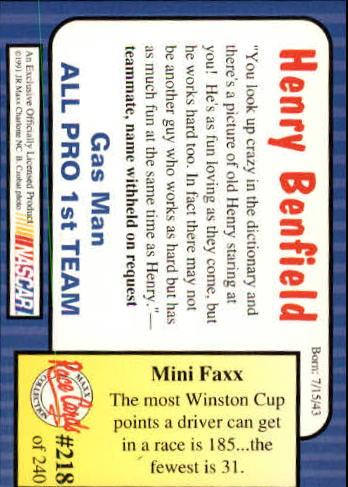 1991-Maxx-Auto-Racing-Cards-1-240-Rookies-A2705-You-Pick-10-FREE-SHIP thumbnail 436