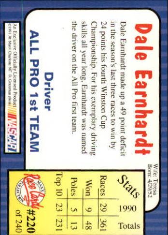 1991-Maxx-Auto-Racing-Cards-1-240-Rookies-A2705-You-Pick-10-FREE-SHIP thumbnail 440