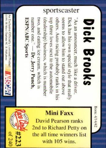 1991-Maxx-Auto-Racing-Cards-1-240-Rookies-A2705-You-Pick-10-FREE-SHIP thumbnail 446