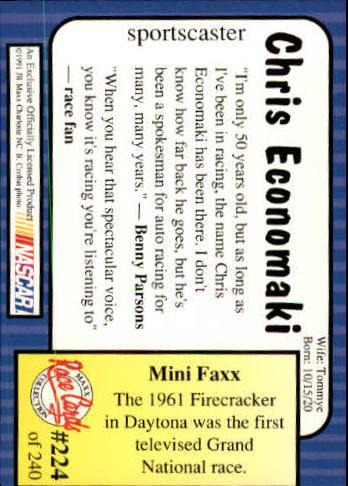 1991-Maxx-Auto-Racing-Cards-1-240-Rookies-A2705-You-Pick-10-FREE-SHIP thumbnail 448