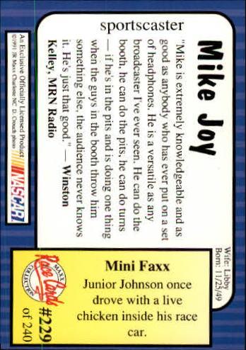 1991-Maxx-Auto-Racing-Cards-1-240-Rookies-A2705-You-Pick-10-FREE-SHIP thumbnail 458