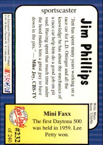 1991-Maxx-Auto-Racing-Cards-1-240-Rookies-A2705-You-Pick-10-FREE-SHIP thumbnail 464