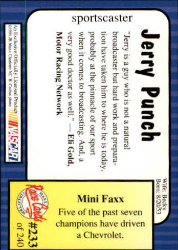1991-Maxx-Auto-Racing-Cards-1-240-Rookies-A2705-You-Pick-10-FREE-SHIP thumbnail 466