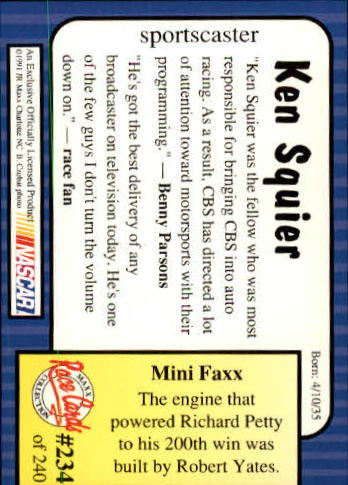 1991-Maxx-Auto-Racing-Cards-1-240-Rookies-A2705-You-Pick-10-FREE-SHIP thumbnail 468