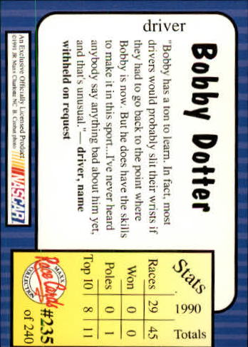 1991-Maxx-Auto-Racing-Cards-1-240-Rookies-A2705-You-Pick-10-FREE-SHIP thumbnail 470