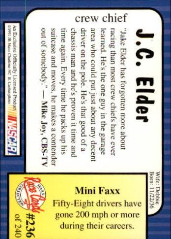 1991-Maxx-Auto-Racing-Cards-1-240-Rookies-A2705-You-Pick-10-FREE-SHIP thumbnail 472