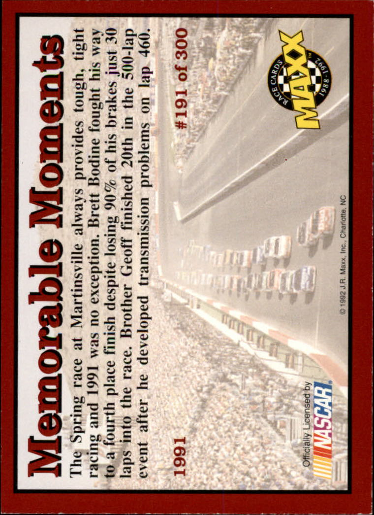 1992-Maxx-Red-Racing-Cards-151-300-Rookies-A2711-You-Pick-10-FREE-SHIP thumbnail 83