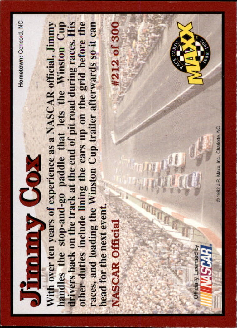 1992-Maxx-Red-Racing-Cards-151-300-Rookies-A2711-You-Pick-10-FREE-SHIP thumbnail 124