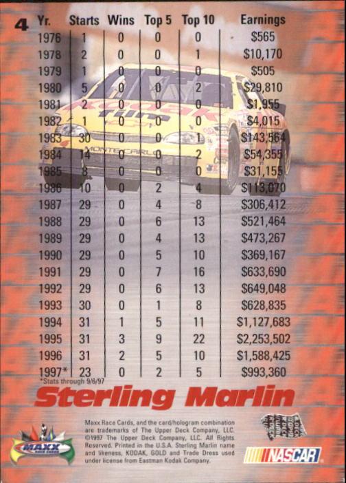 1997-Maxx-Auto-Racing-Cards-1-120-Rookies-A3252-You-Pick-10-FREE-SHIP thumbnail 9