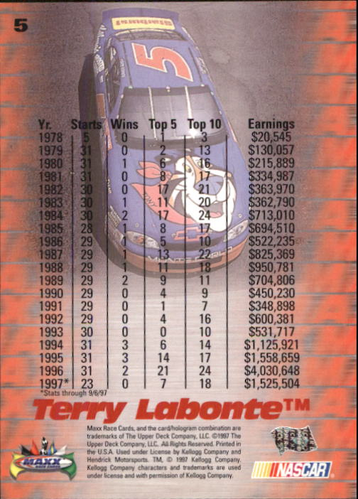 1997-Maxx-Auto-Racing-Cards-1-120-Rookies-A3252-You-Pick-10-FREE-SHIP thumbnail 11