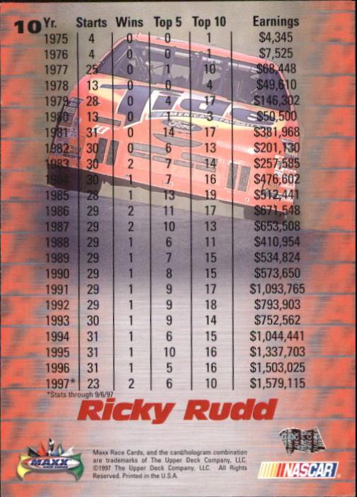 1997-Maxx-Auto-Racing-Cards-1-120-Rookies-A3252-You-Pick-10-FREE-SHIP thumbnail 21